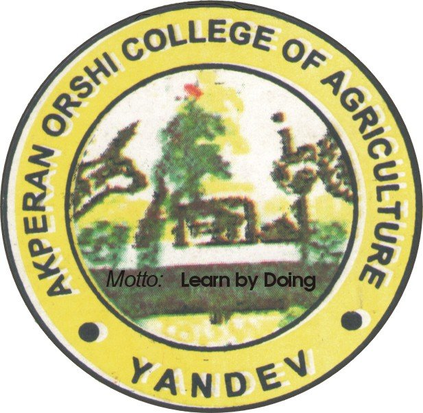Akperan Orshi College of Agriculture Yandev (AOCAY) HND Admission Form