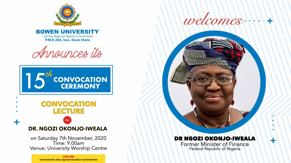 Bowen University 15th Convocation Ceremony Schedule