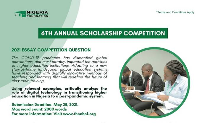 NHEF Scholarship Essay Competition 2021