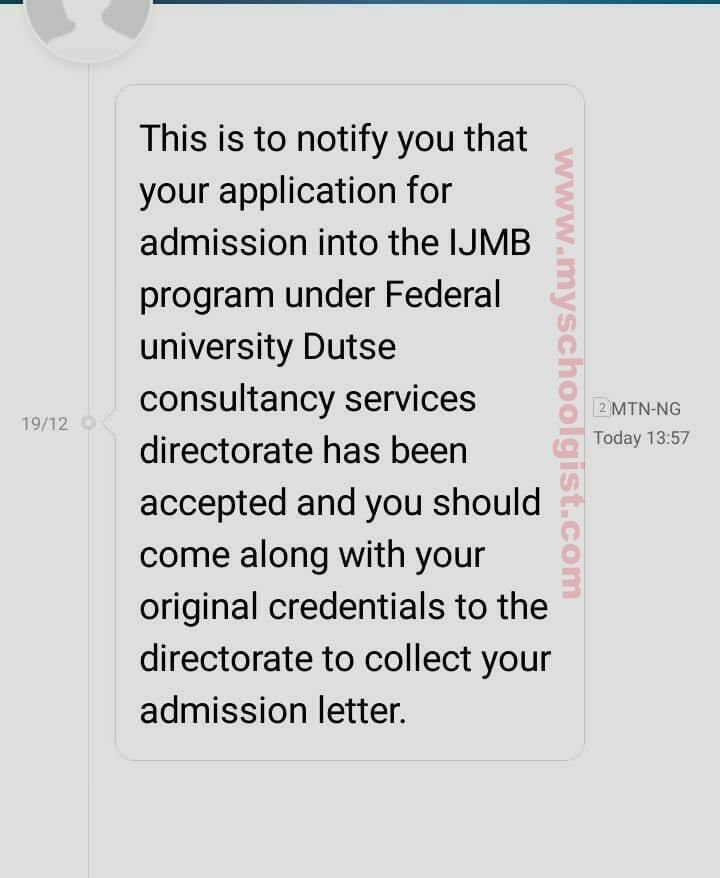 Check FUD IJMB Admission List