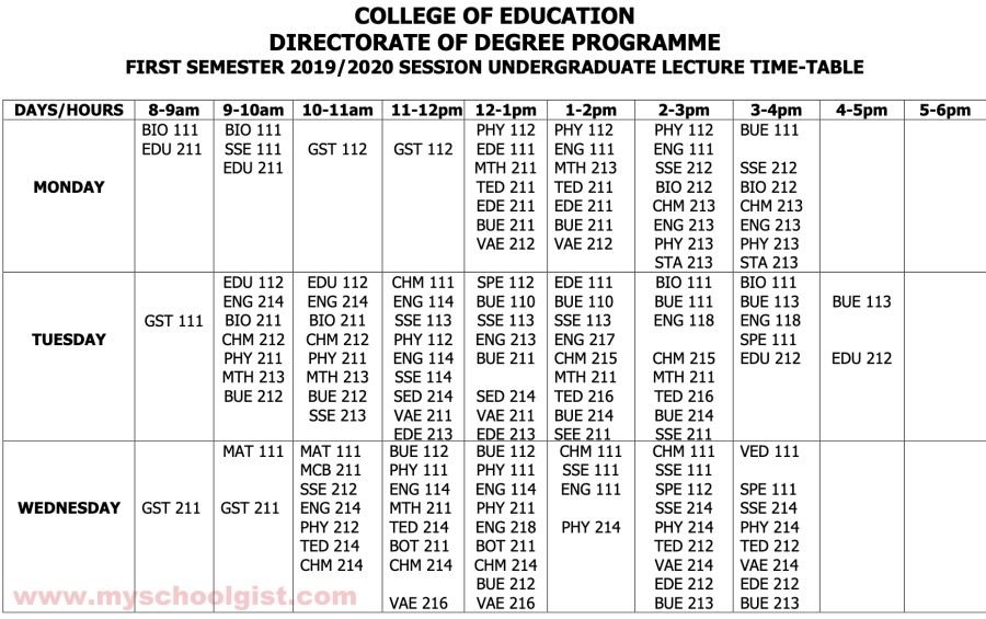 AKSCOE Lecture Timetable