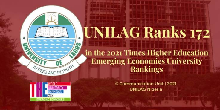 UNILAG Ranks 172 in 2021 THE Emerging Economies University Rankings