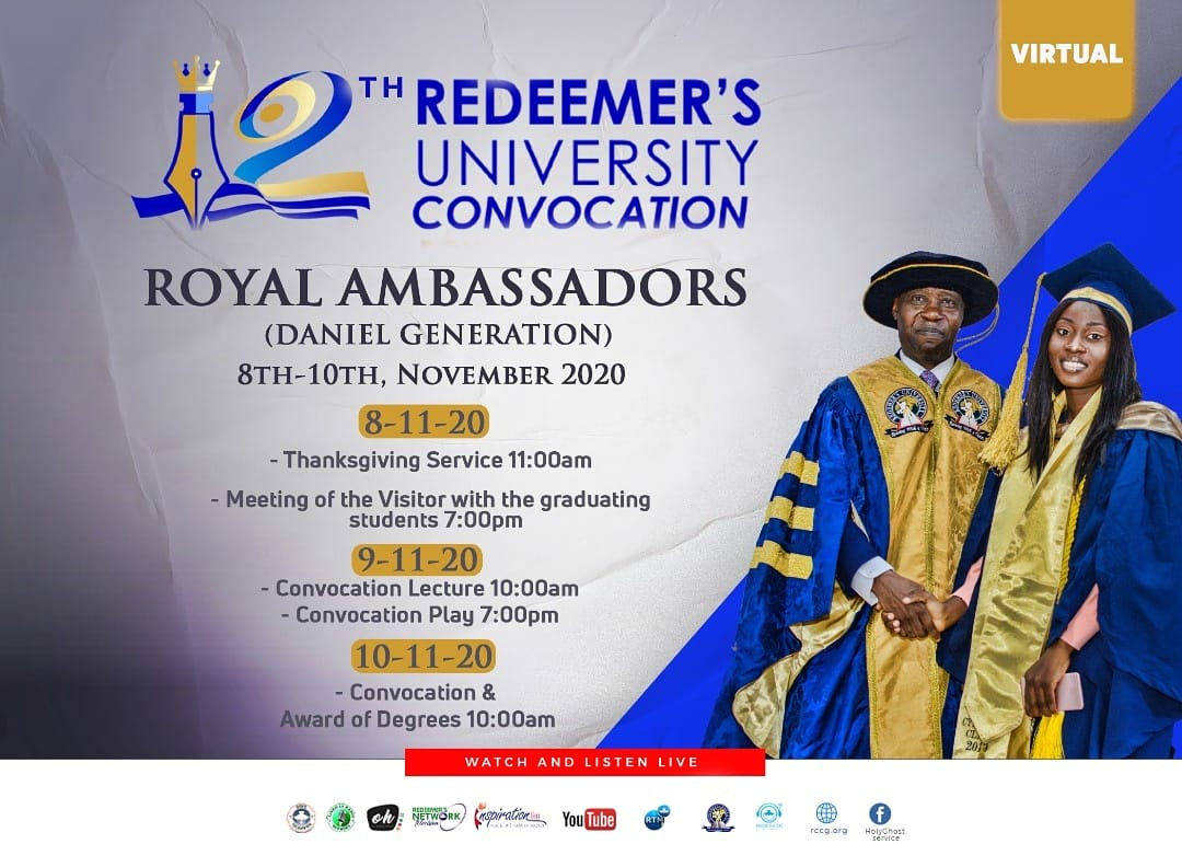 Redeemer's University Convocation Ceremony Programme of Events