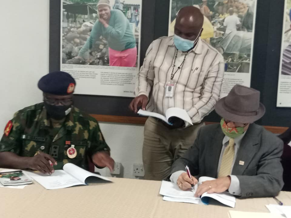 National Youth Service Corps (NYSC) Signs MoU with IITA