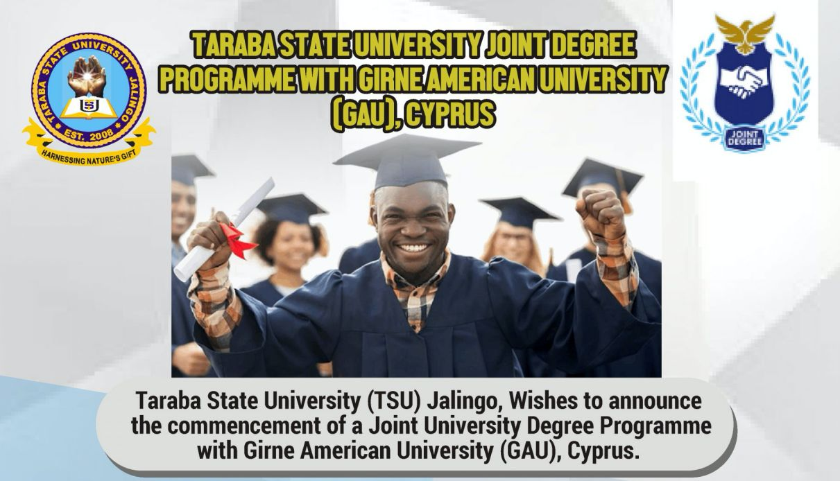 Taraba State University (TASU) Joint University Degree Programme with Gime American University (GAU), Cyprus