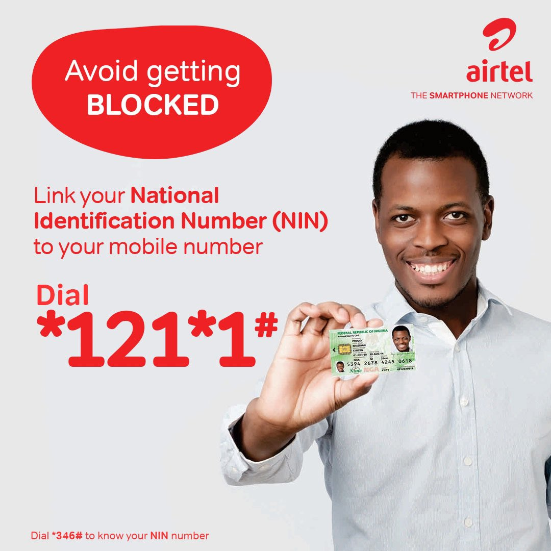 Link your NIN to your Airtel Mobile Number
