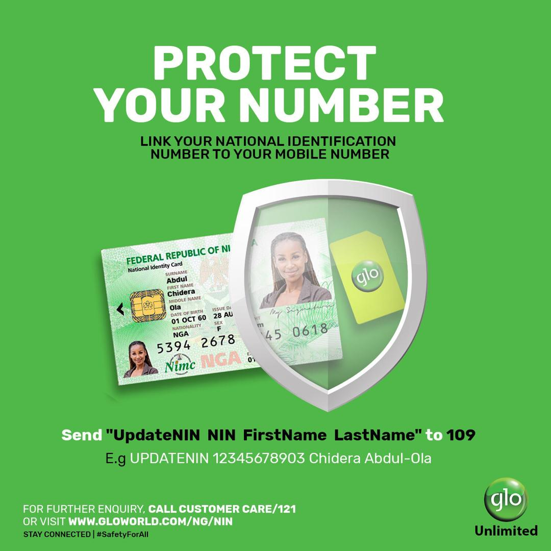 Link your NIN to your Glo Mobile Number