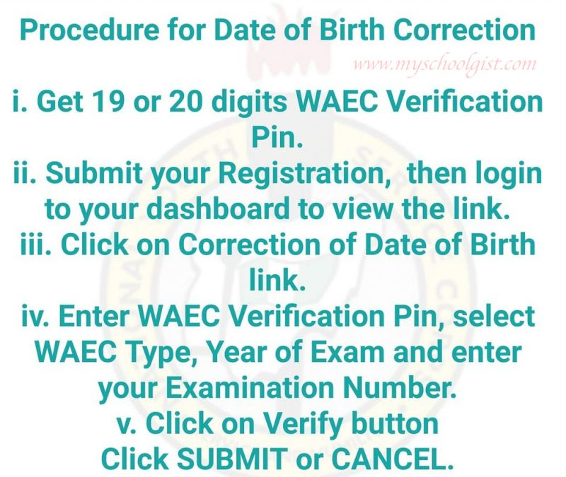 NYSC Procedure for Date of Birth Correction