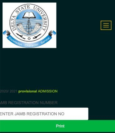 how to check delsu admission list 2021