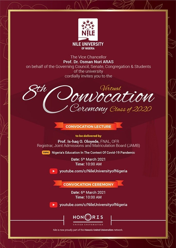 Nile University of Nigeria 8th Virtual Convocation Ceremony