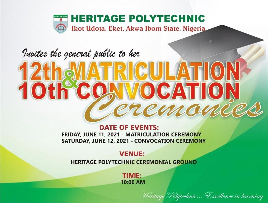 Heritage Poly 12th Matric & 10th Convocation Ceremonies