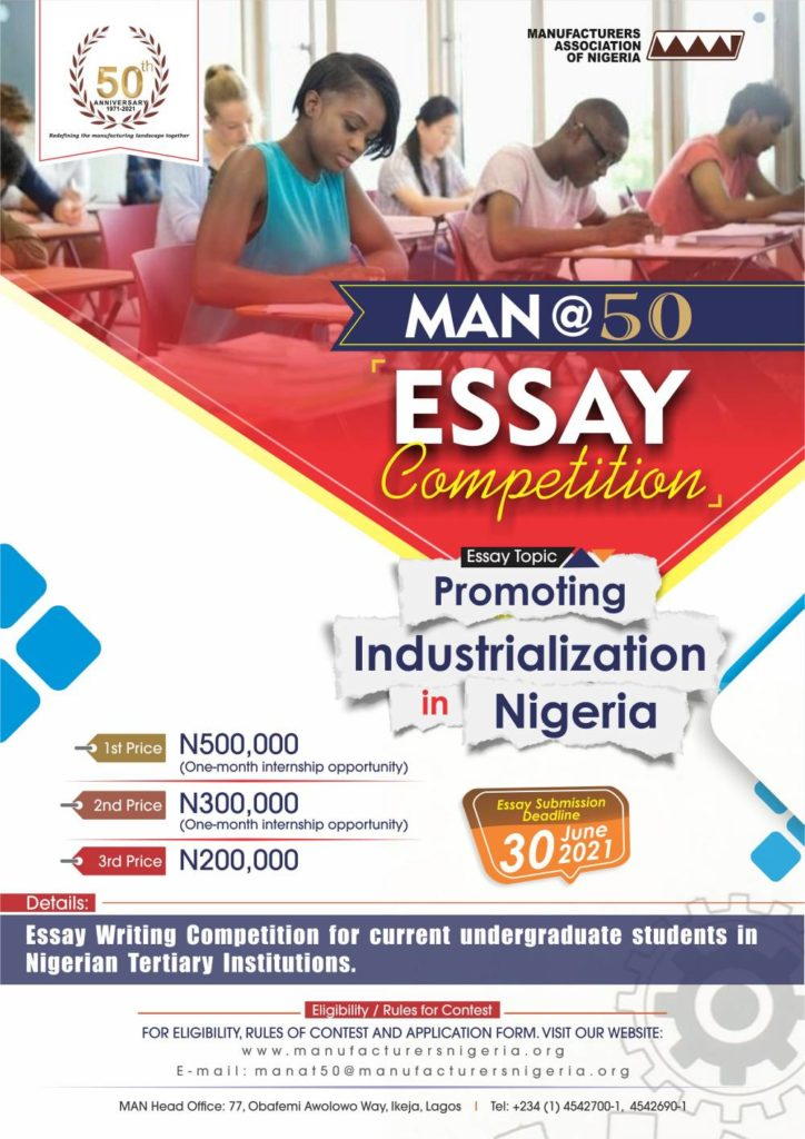 MAN @ 50 Essay Competition