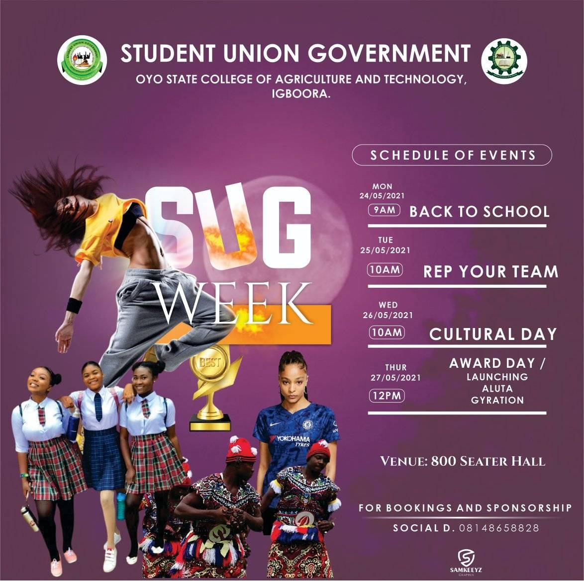 OYSCATECH SUG Week Schedule of Events 2021