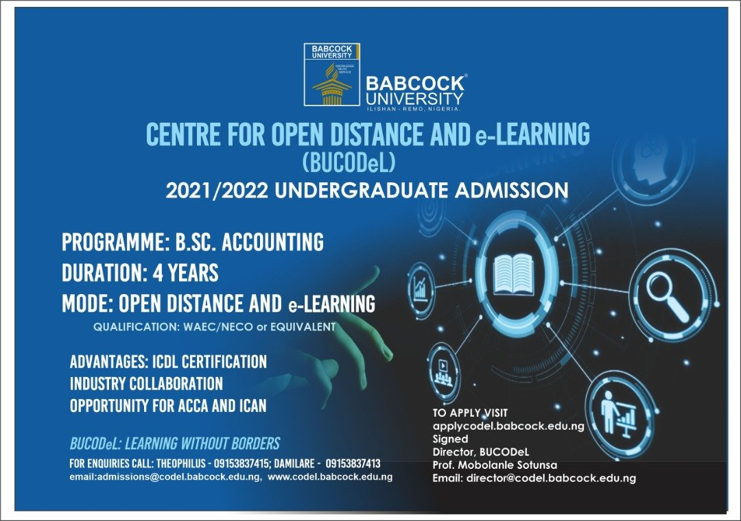 Apply for Babcock University Open Distance and E-learning Admission Form