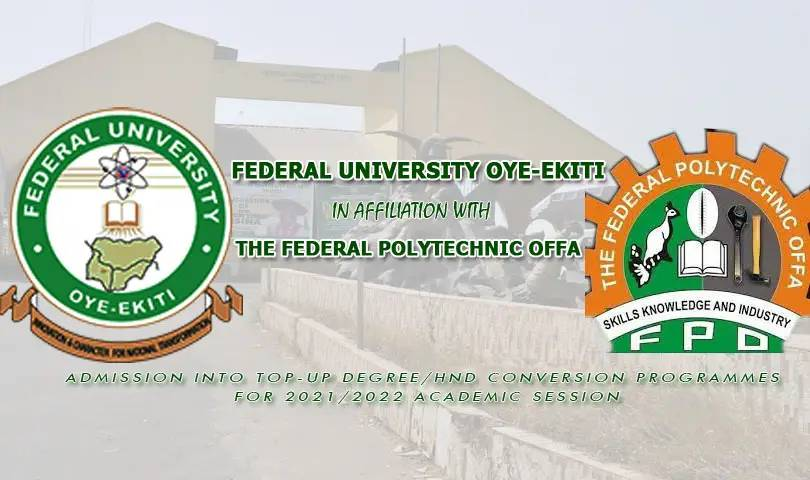 FUOYE - Offa Poly Top-Up:Conversion Programme Admission Form