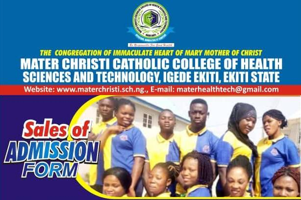 Mater Christi Catholic College of Health Science and Technology Admission Form